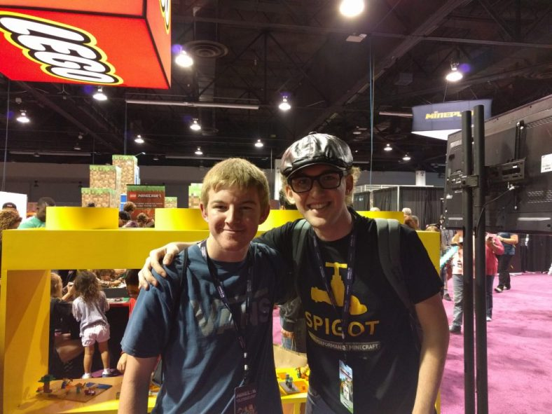 After four years, I finally meet one of my awesome staff members, Justin Natzic at MINECON 2016 in Anaheim, California
