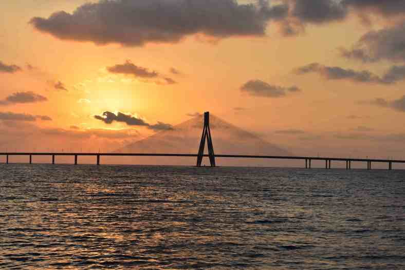 The Bandra–Worli Sea Link. This may have been one of my best photos.