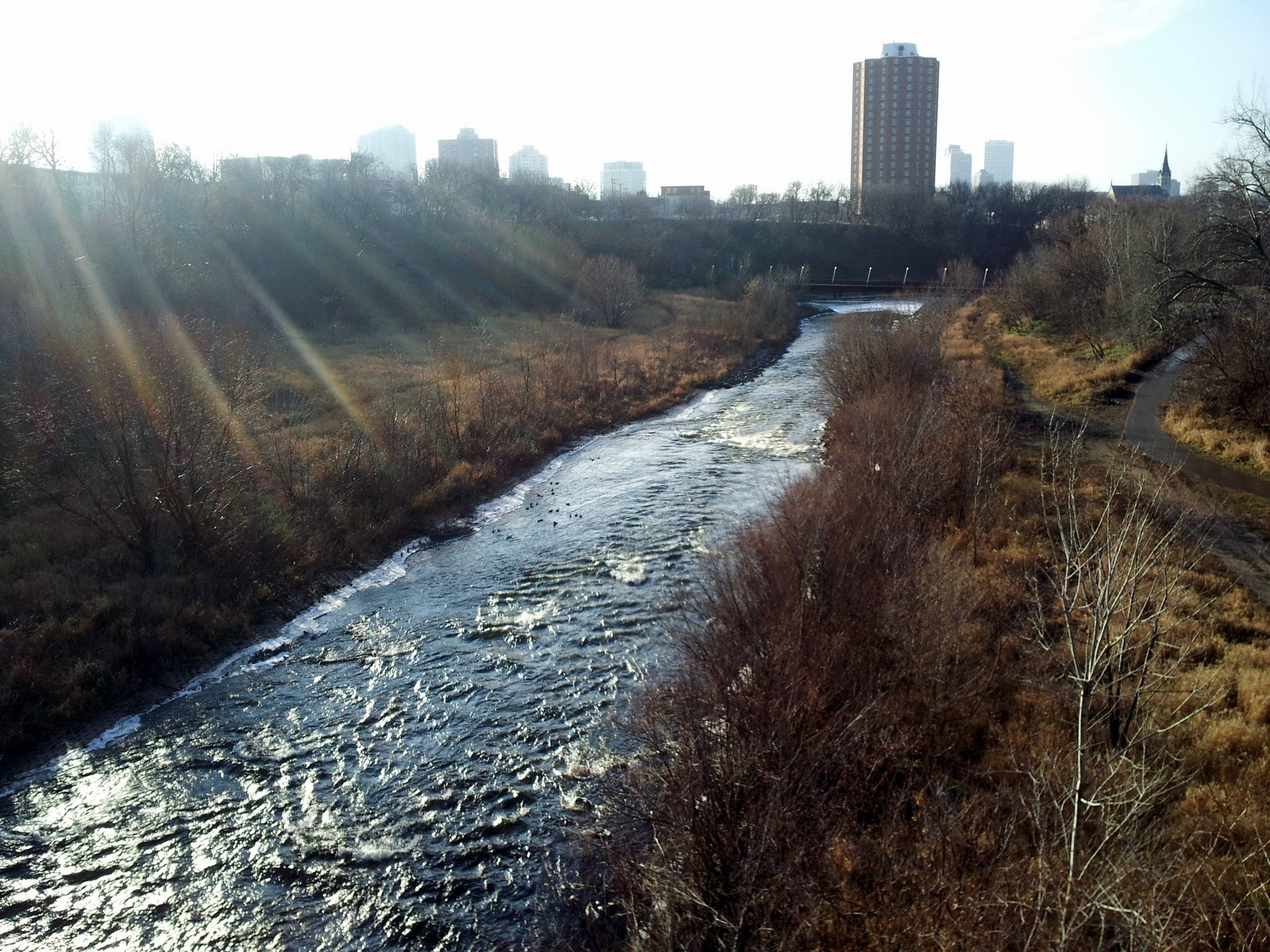 The river and skyline from the North Avenue Bridge