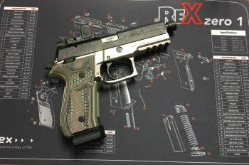 Arex Rex Zero 1 with Hogue G10 Grips break in a new pistol