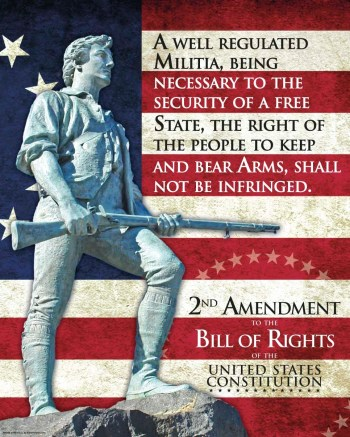 Minuteman in front of the Second Amendment for reciprocity Without Due Process