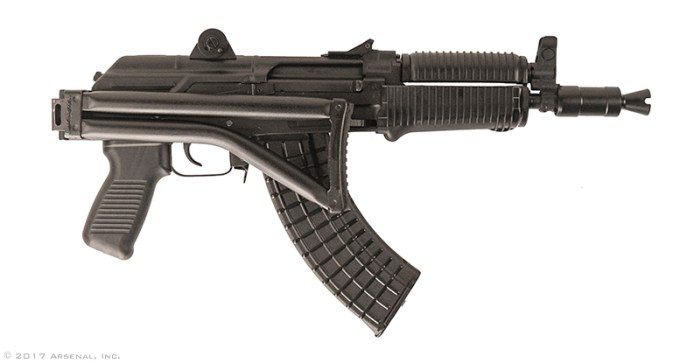 Arsenal Inc SAM7SFK 7.62x39 SBR right with stock folded