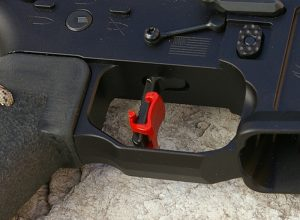 AR-15 with straight red Hipertouch trigger