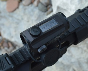 AR-15 pistol with Holosun Paralow HS503C sight solar collector
