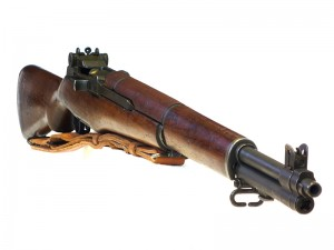 M1 Garand rifle quarting to