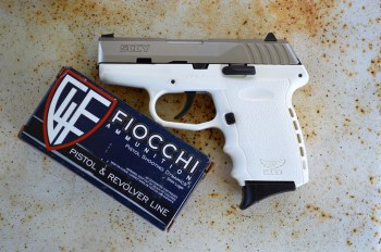 SCCY CPX-2 pistol and Fiocchi ammunition box