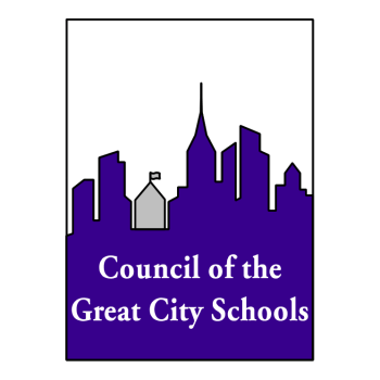 Council of Great City Schools purple and white logo