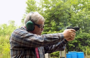 Bob Campbell shooting the Ruger EC9s pistol