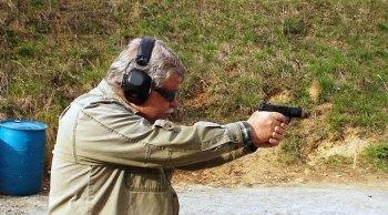 Bob Campbell shooting the SIG P365 pistol