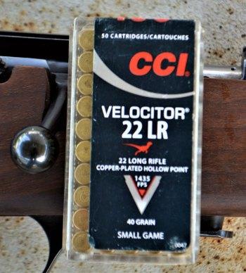 CCI .22 LR Velocitor ammunition box