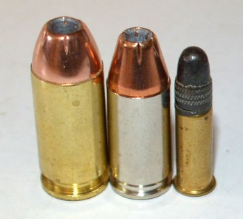 .40 S&W, 9mm and .22 LR bullets