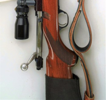 Ruger M77 with open bolt