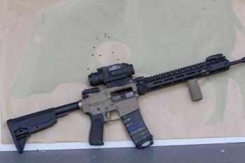 FLIR PTS-233 on AR-15 rifle