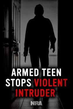 Armed Teen NRA poster supporting armed good guys