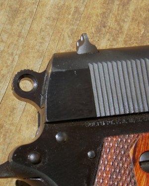 Rowel hammer on Colt Commander 1911 pistol