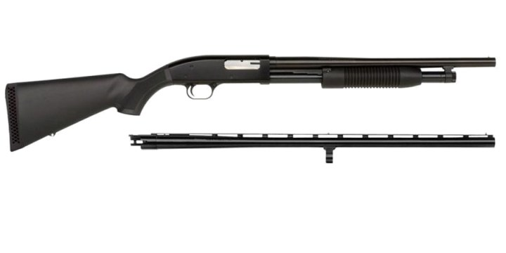Maverick 88 shotgun with additional slug barrel