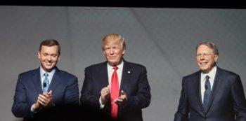 Chris Cox and Wayne LaPierre flanked President Donald Trump
