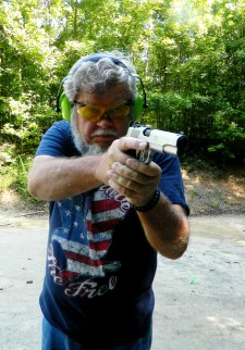Bob Campbell shooting the Ruger SR1911 pistol in self-defense drills