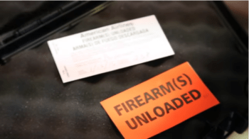 TSA firearm declaration tag for flying with firearms