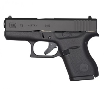 Glock 43 black left profile Glock G43X