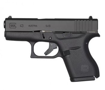 Glock 43 black left profile Glock G43X