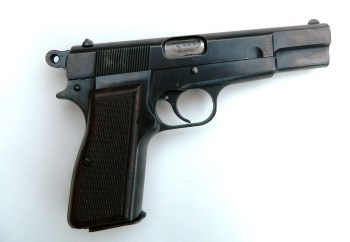 Browning Hi-Power pistol right profile