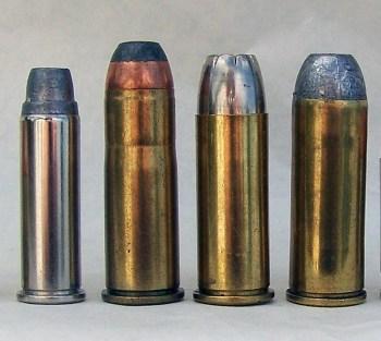 A line of handgun caliber cartridges
