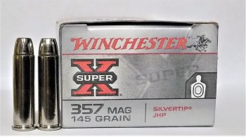 Winchester 145-grain .357 Mag ammunition box