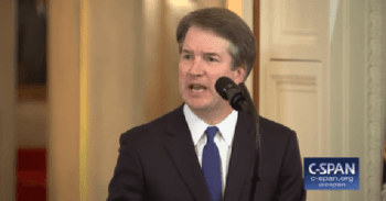 Supreme Court Justice Brett Kavanaugh speaking about a tough year for gun owners