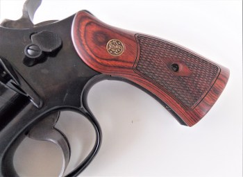 Smith and Wesson Model 27 revolver wood grips