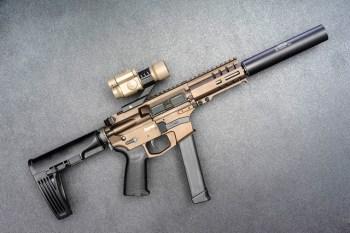 AR-15 pistol with brace
