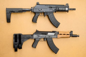 Contrasting pistol braces or AR-15 and AK-47