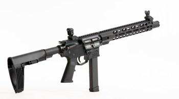 Pistol caliber carbine with Glock magazine as a Trunk or Truck Gun