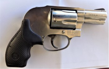 Hammerless Smith and Wesson revolver right profile