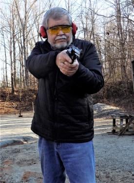 Bob Campbell shooting a L Frame revolver