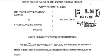 Copy of court filing regarding FOID card legality