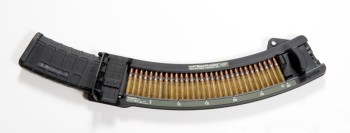 Maglula BenchLoader with 30 rounds of .223 ammunition