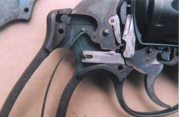 1917 Smith & Wesson revolver with grips removed ready for gunsmithing