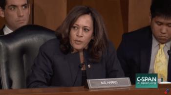 Democrat Sen. Kamala Harris speaking out against firearm ownership