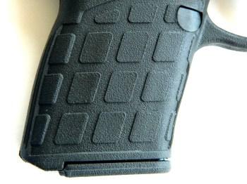 Grip texture on the Kel-Tec PF9 pistol