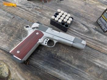 Les Baer 1911 pistol with Remington ammunition