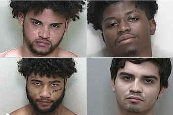 booking pictures of four home invaders for armed good guys