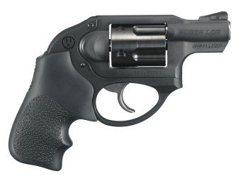 9mm revolver handgun right profile black