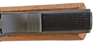 checkered mainspring housing on the Citadel 1911 9mm pistol