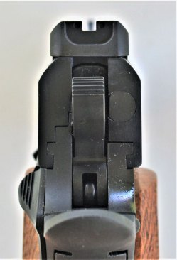 High visibility sight on the Citadel 9mm pistol