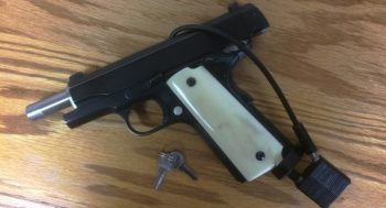 1911 pistol with gun lock