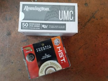 Federal HST ammunition box and Remington UMC Ammunition box