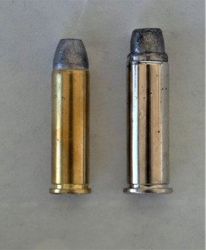 The .32 H&R Magnum, left, compared to the .38 Special, right.
