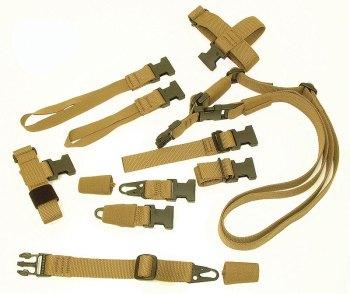 Blue Force Gear's SOC-C Sling Pak of coyote brown slings