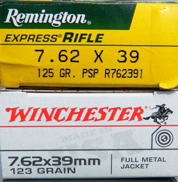 Remington and Winchester ammunition boxes